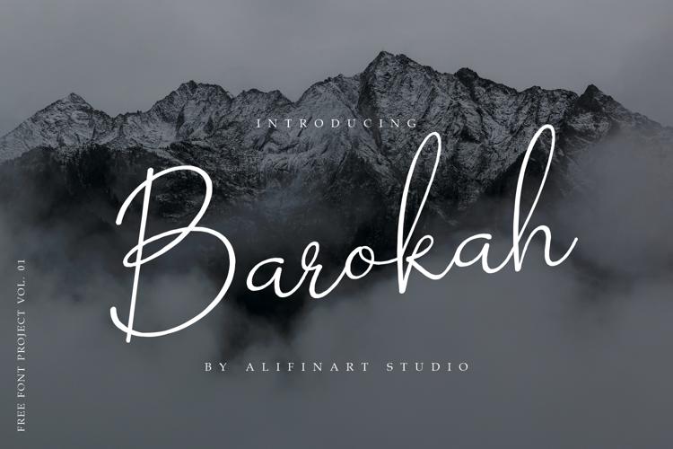 Barokah Signature Font