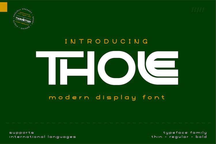 Thole Regpersonal Font