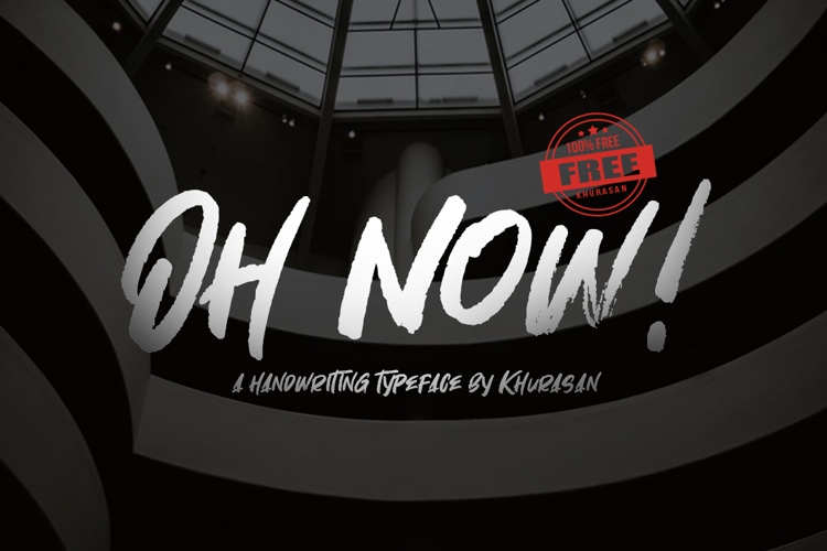 Oh Now! Font