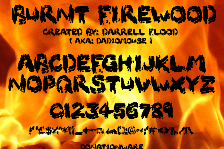 Burnt Firewood Font