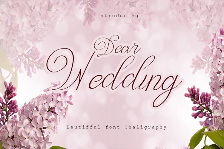 Dear Wedding Font