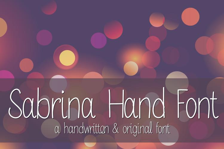 MRF Sabrina Hand Font