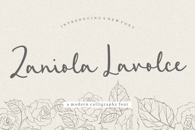 Zaniola Lavolce Font