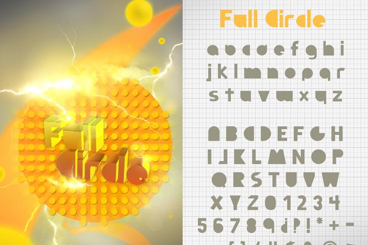 Full Circle Font