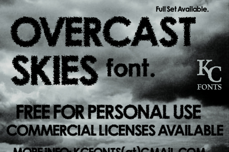 Overcast Skies Font