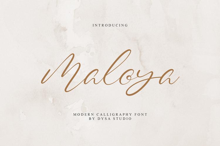 Maloya Font