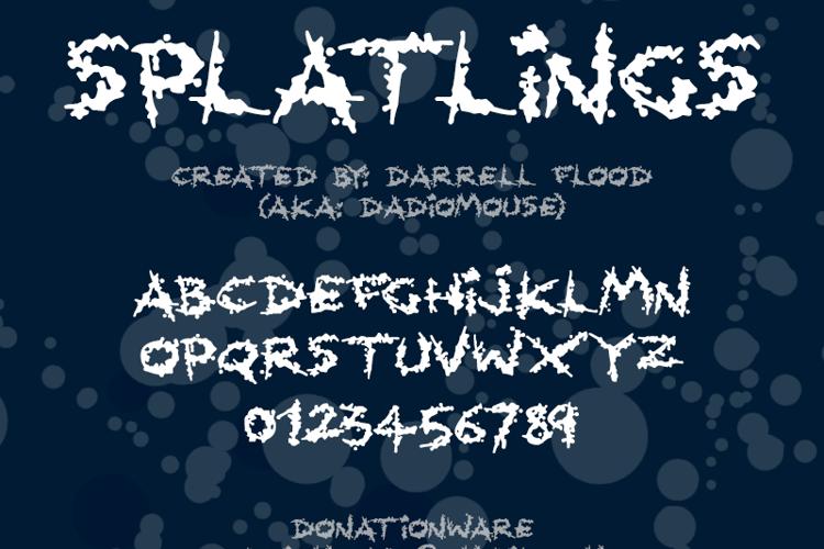 Splatlings Font