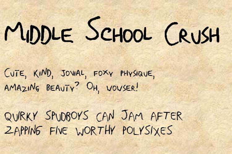 MiddleSchoolCrushNBP Font