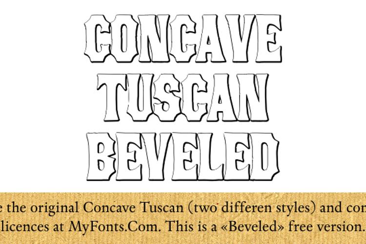 ConcaveTuscan Beveled Font