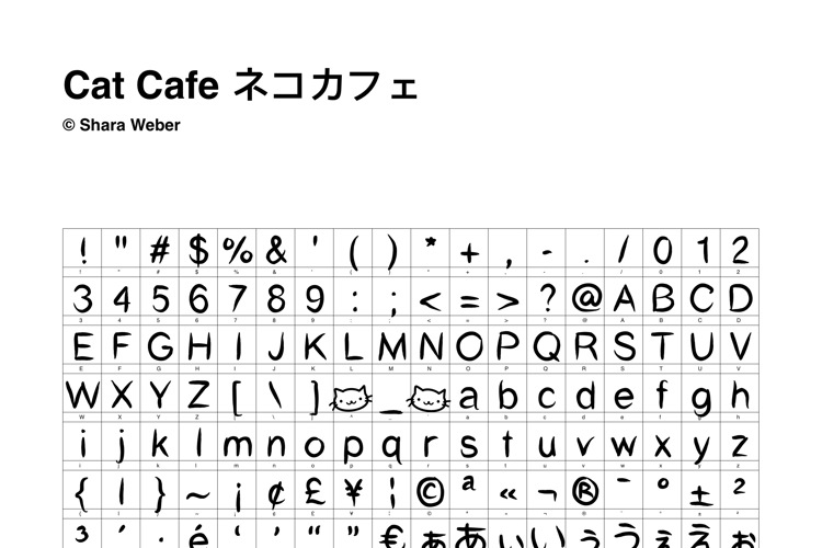 Cat Cafe Font
