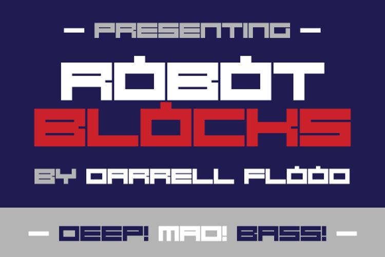 Robot Blocks Font