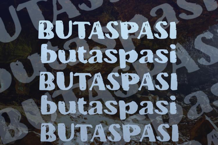 b Butaspasi Font