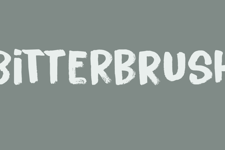 Bitterbrush DEMO Font