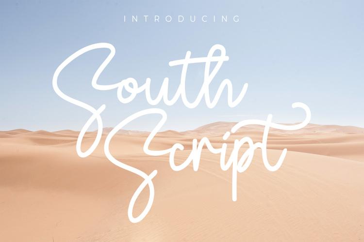 South Script Font