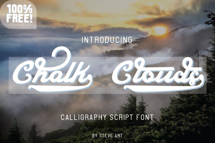 Chalk Clouds 100% Free Font