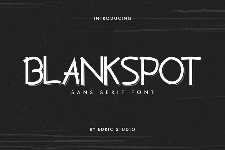 Blankspot Font
