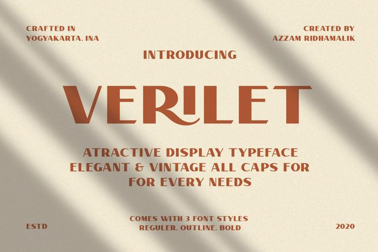 Verilate Font