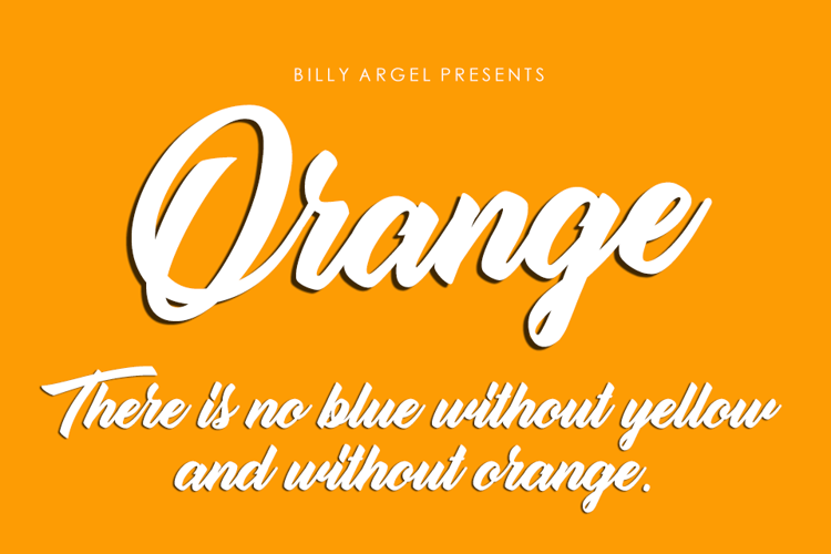 Orange Font