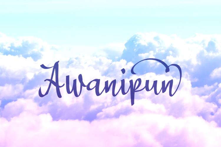 a Awanipun Font
