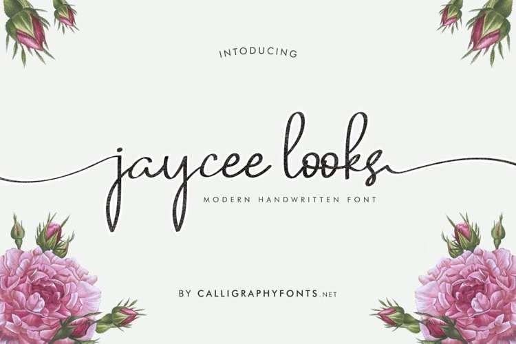 Jaycee Looks Font