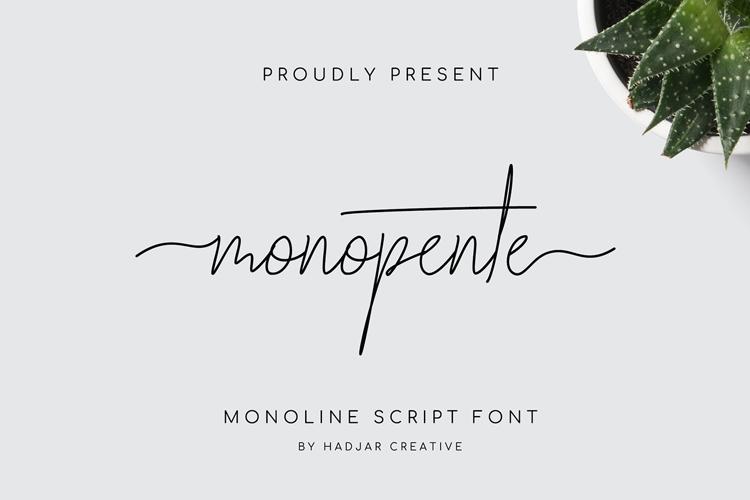monopente Font