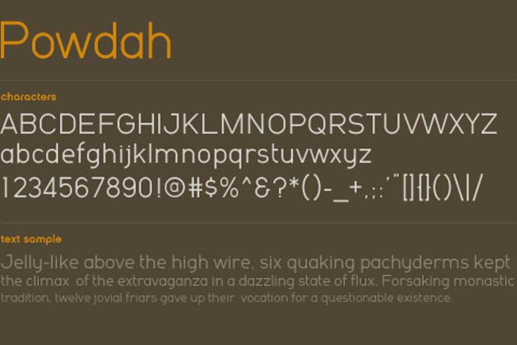Powdah Font