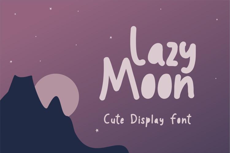 Lazy moon Font