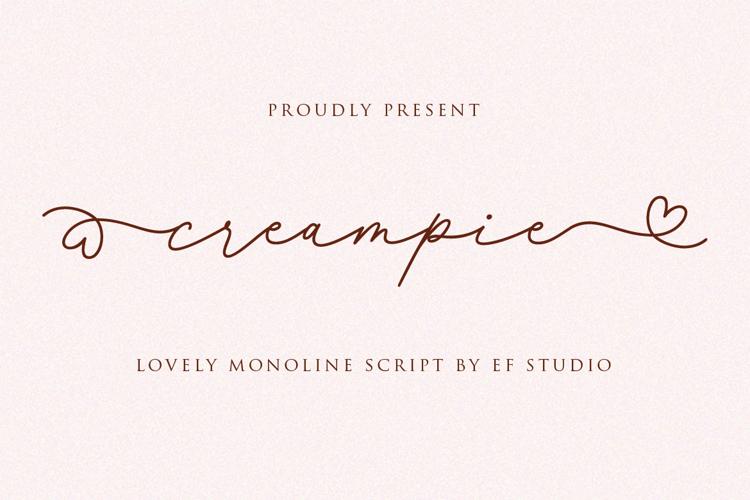 Creampie Font