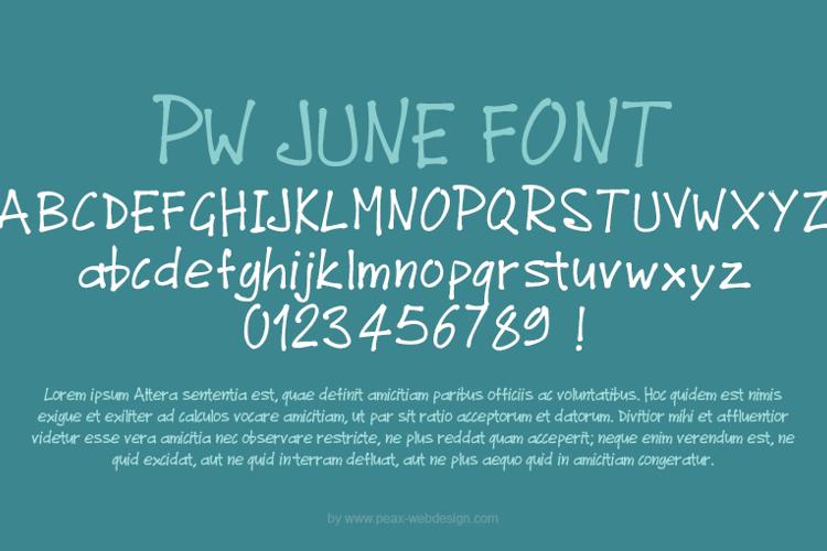 PWJunefont Font