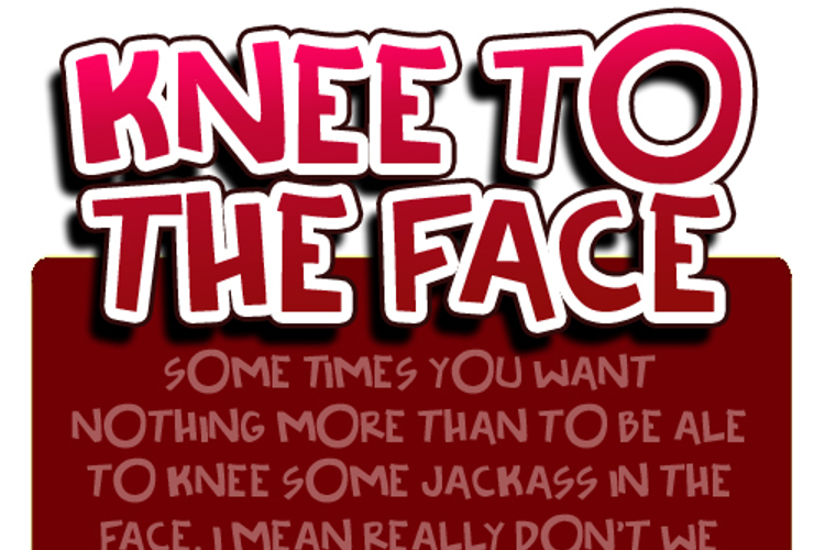 Knee to the face Font