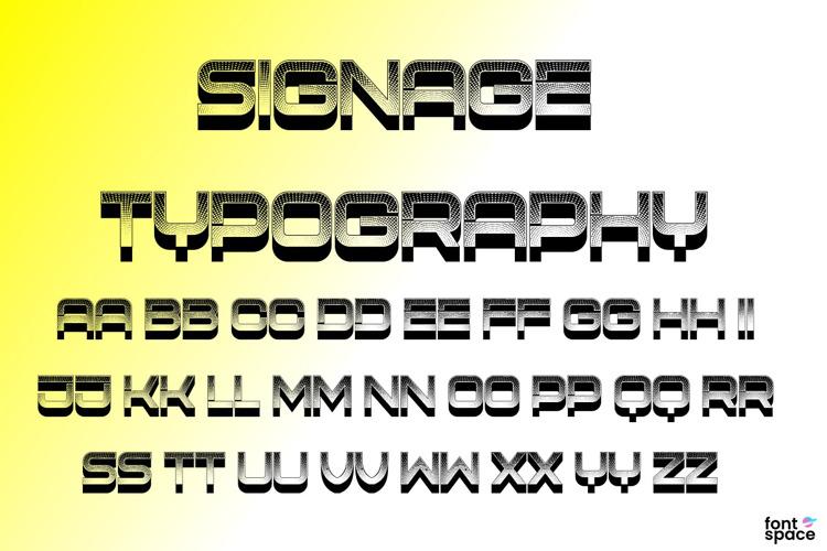 Signage Typography Font