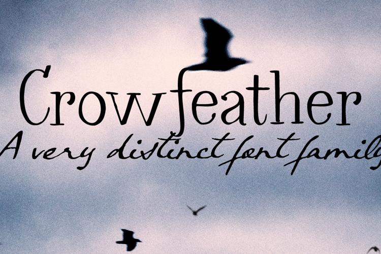 Crowfeather Script DEMO Font