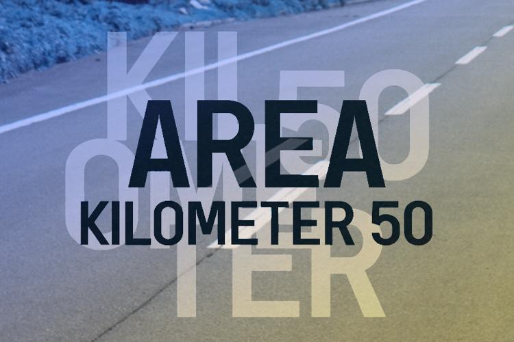 a Area Kilometer 50 Font