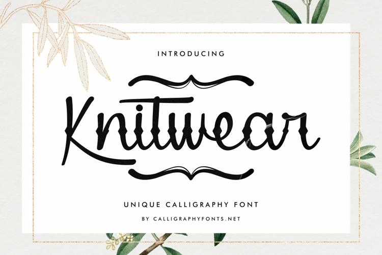Knitwear Font