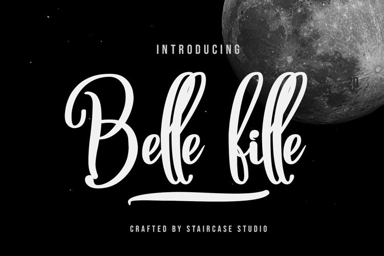 Belle fille Font