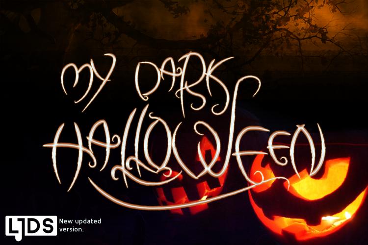 my dark halloween Font