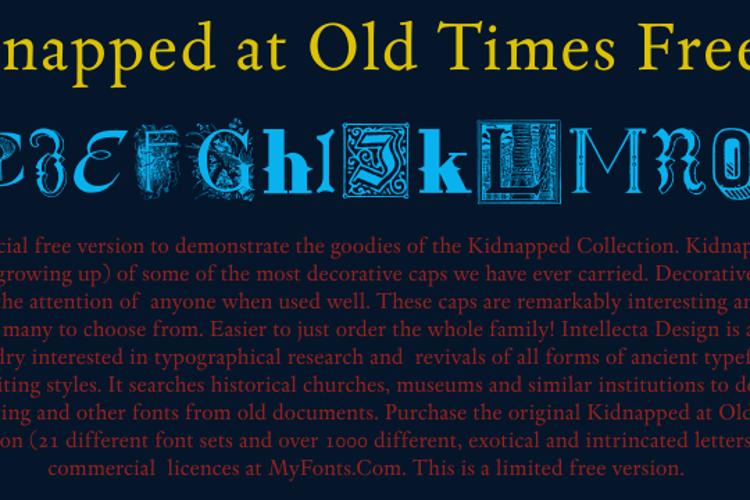 Kidnapped At Old Times Free 4 Font