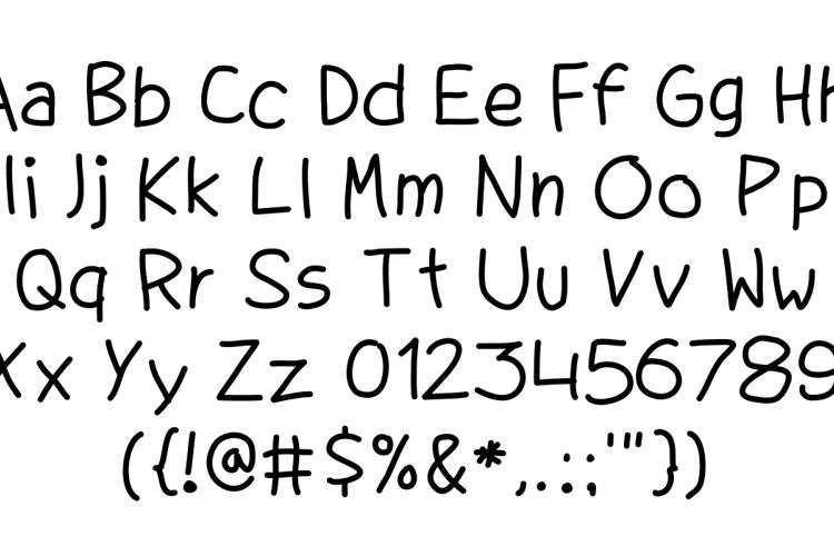 QD Hand Redrawn Font