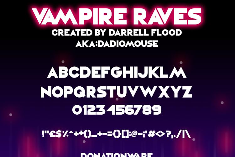 Vampire Raves Font