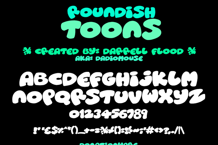Roundish Toons Font