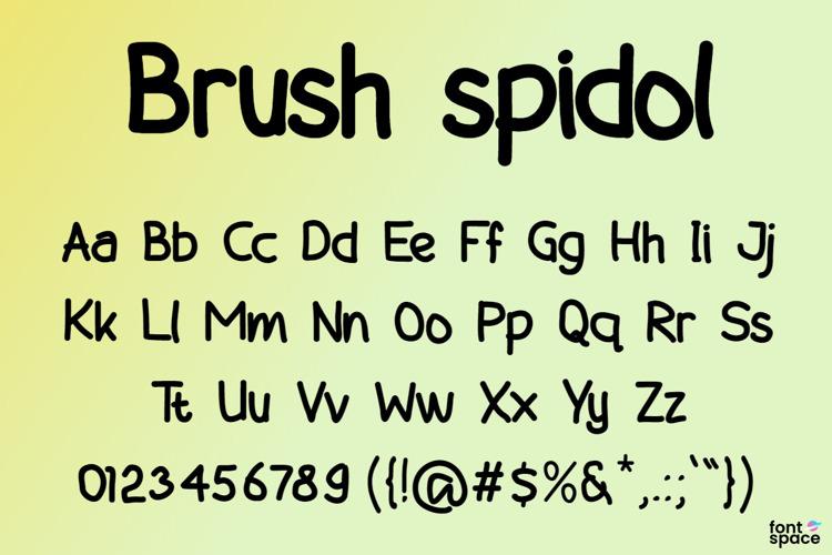 Brush spidol Font