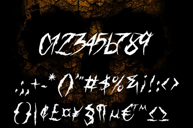 Horror & Dead DEMO Font