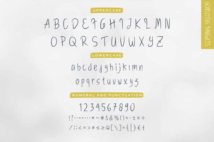 Gonlotus Fangwell Dry Brush Font