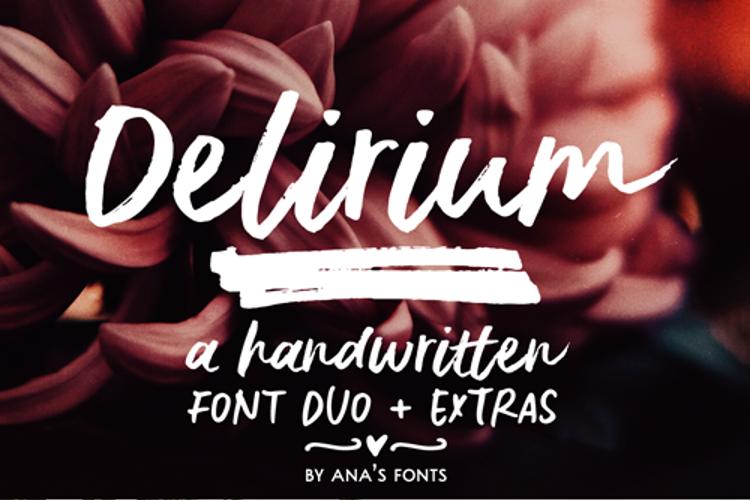 Delirium Sample Font