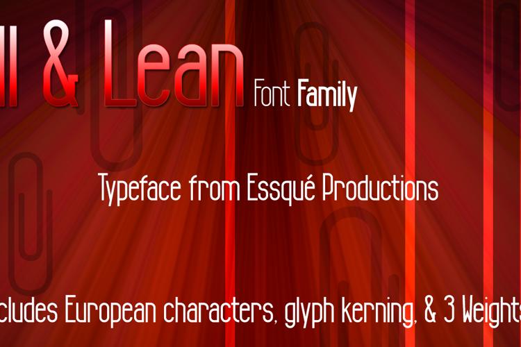 Tall & Lean Font