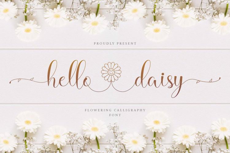 Hello Daisy - Flowering Script Font