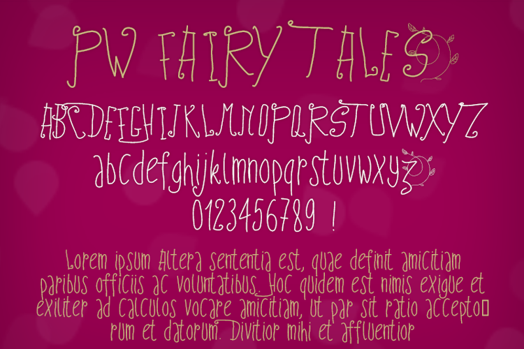 PWFairyTales Font