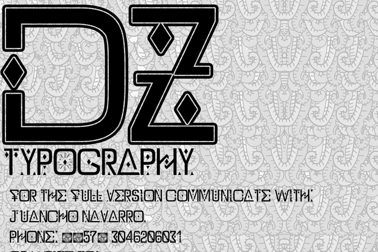 DZ Typography - Zilap Font