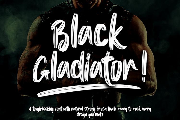 Black Gladiator - Font