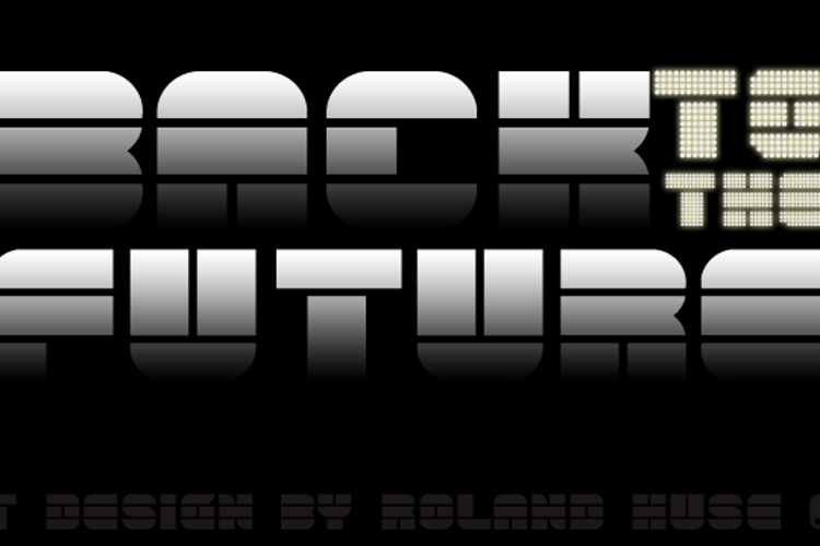 back to the future 4 Font